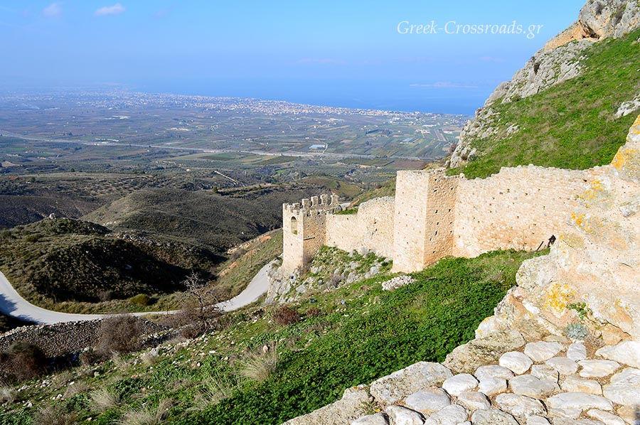 Ακροκόρινθος κάστρο Αρχαία Κόρινθος