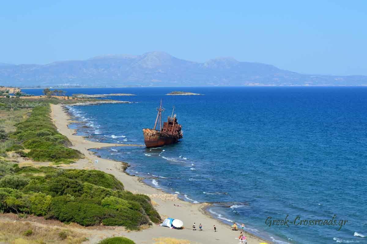 Γύθειο Λακωνία παραλία Βαλτάκι ναυάγιο
