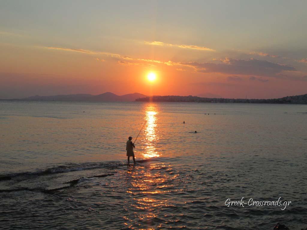 Athens Faliro sunset