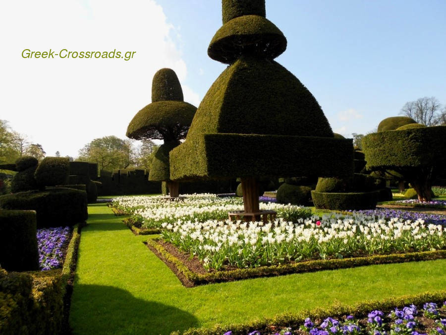 The impressive Topiary garden at Levens Hall