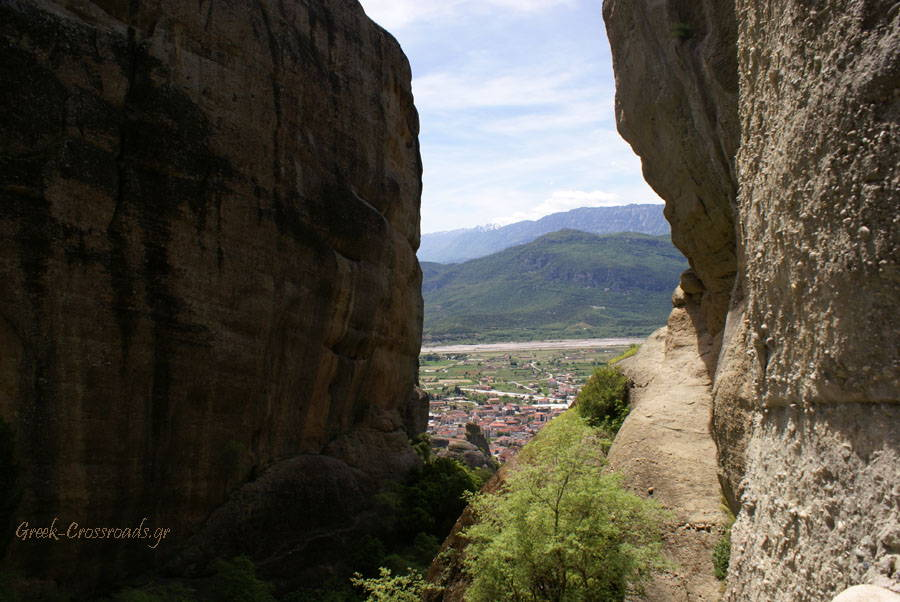 Meteora view rocks