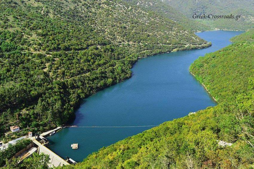 Λάδωνας τεχνητή λίμνη φράγμα