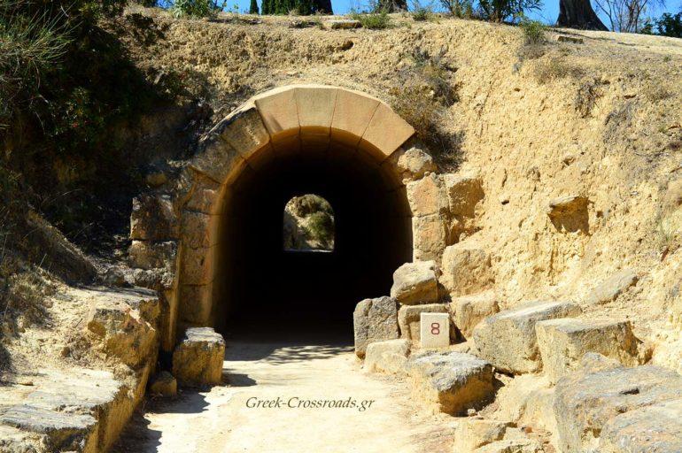 Αρχαία Νεμέα Στάδιο Κρυπτή Είσοδος