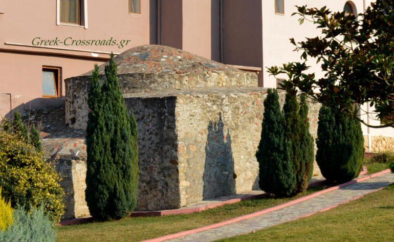 Άγκιστρο Σερρών, λουτρά, χαμάμ, βυζαντινό μνημείο