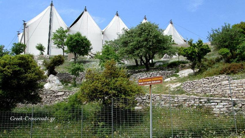 Επικούριος Απόλλων, Apollo temple Vassea tent